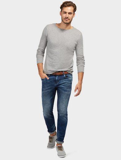 Tom Tailor 5-Pocket-Jeans Josh Regular Slim mit Gürtel