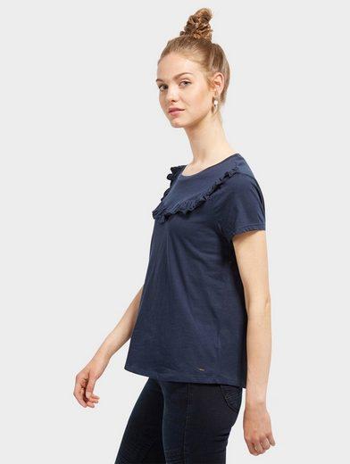 Tom Tailor Denim T-Shirt mit Rüschen-Detail vorne