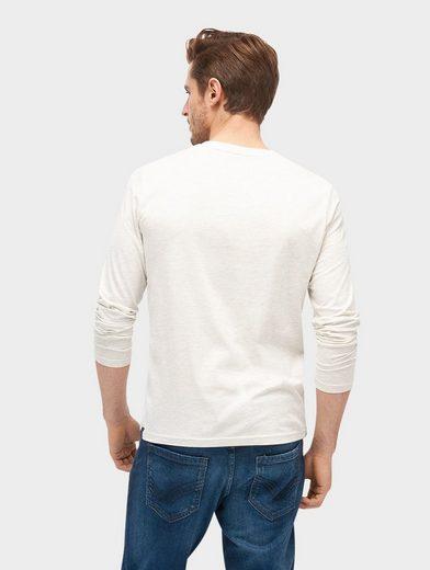 Tom Tailor Langarmshirt Langarmshirt mit Schriftzug