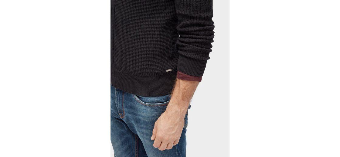 Tom Tailor Strickjacke mit Waffel-Struktur Freies Verschiffen Ausgezeichnet Große Diskont Online Verkauf Heißen Verkauf Für Billig Zu Verkaufen Komfortabel Günstiger Preis svsdQem1
