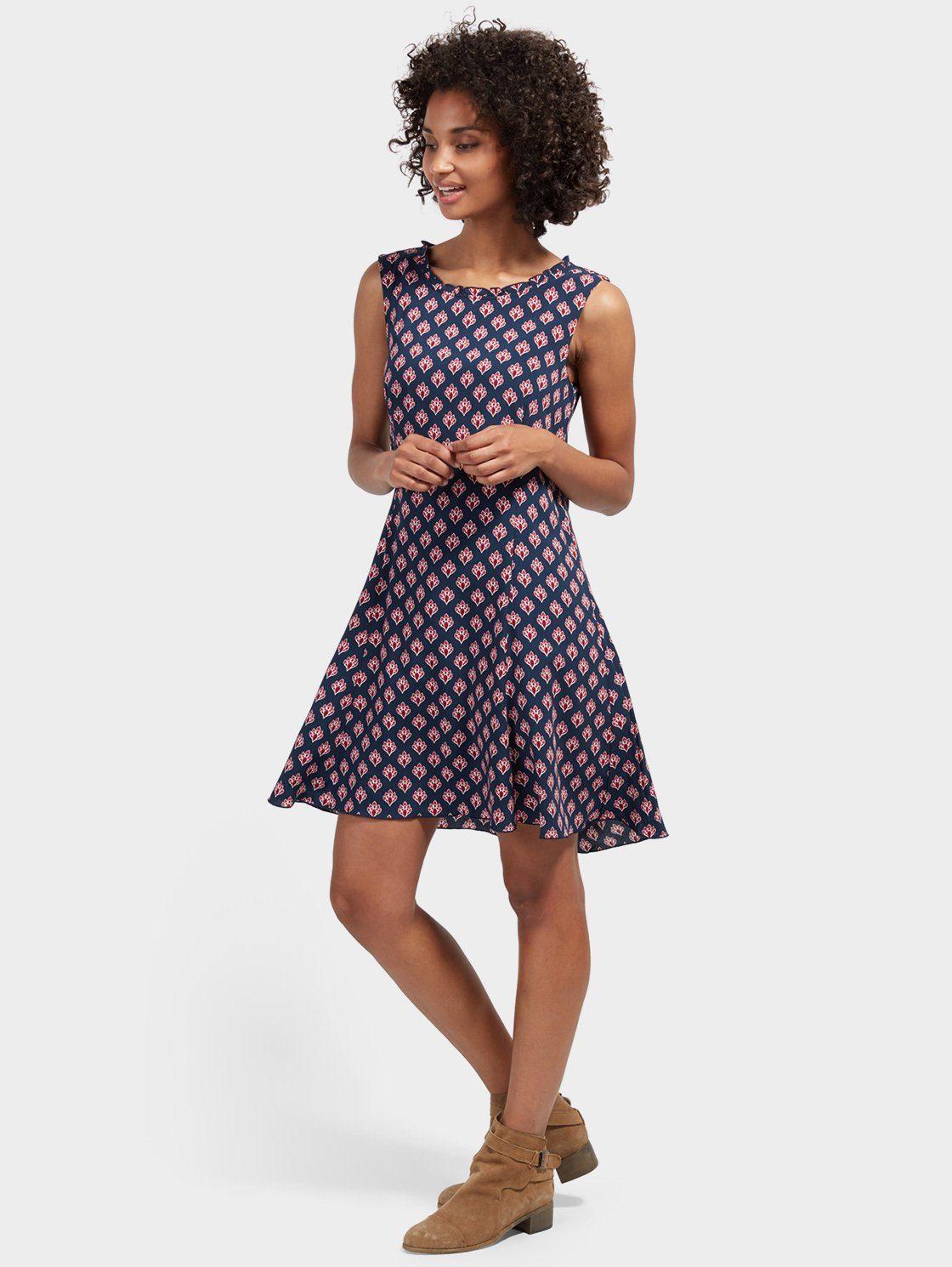 TOM TAILOR A-Linien-Kleid »mit folklorischem Print«