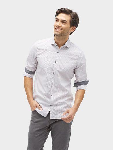 Tom Tailor Langarmhemd mit feinem Muster