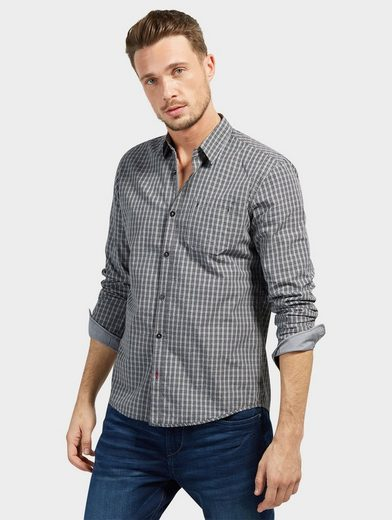 Tom Tailor Long-sleeved Shirt With Caro Pattern