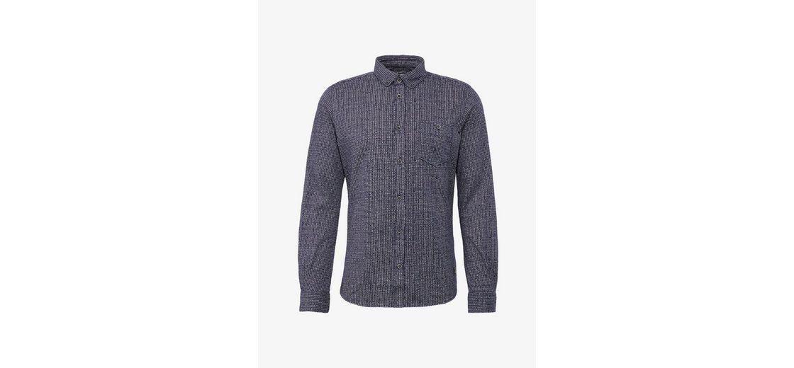Rabatt Footlocker Wählen Sie Eine Beste Günstig Online Tom Tailor Langarmhemd gemustertes Hemd mit Brusttasche Günstig Kaufen Exklusiv J9JLHTIIX