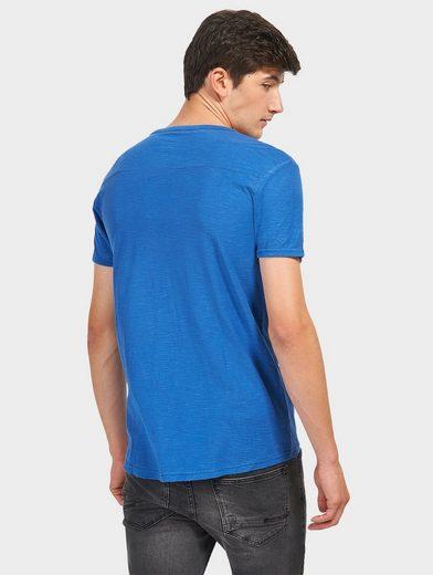 Tom T-shirt En Jean Sur Mesure Avec Iris Contrastant