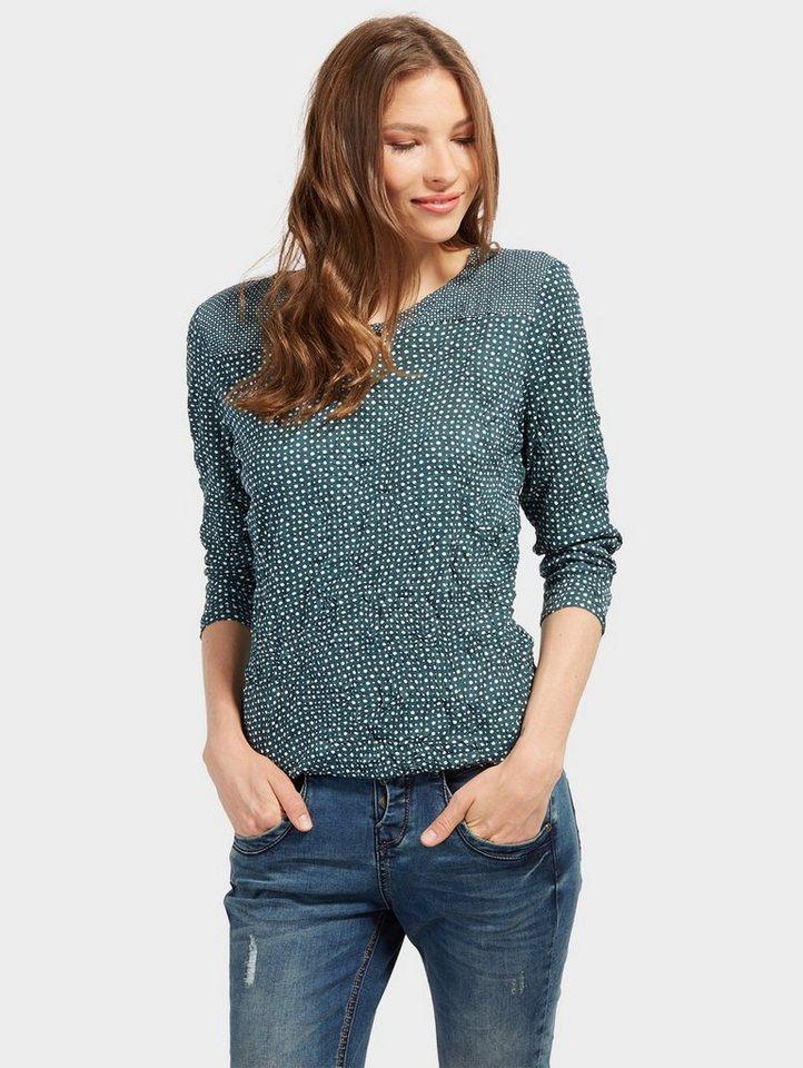 tom tailor 3 4 arm shirt mit punktemuster und crinkles online kaufen otto. Black Bedroom Furniture Sets. Home Design Ideas
