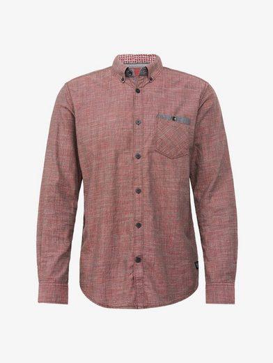 Tom Tailor Langarmhemd mit feiner Struktur