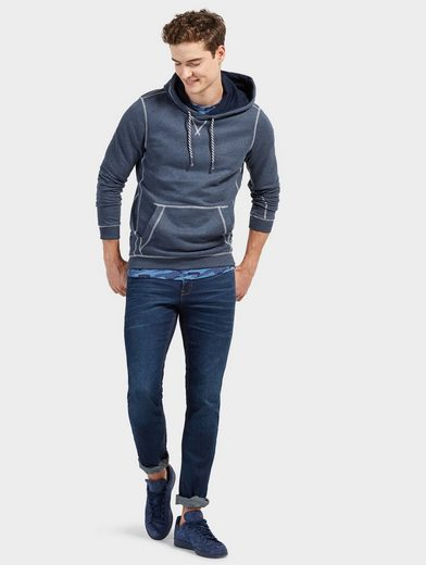 Tom Tailor Denim Hoodie mit kontrastfarbenen Nähten
