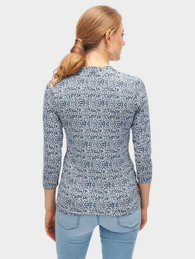 Tom Tailor 3/4-arm-shirt Mit Allover-print