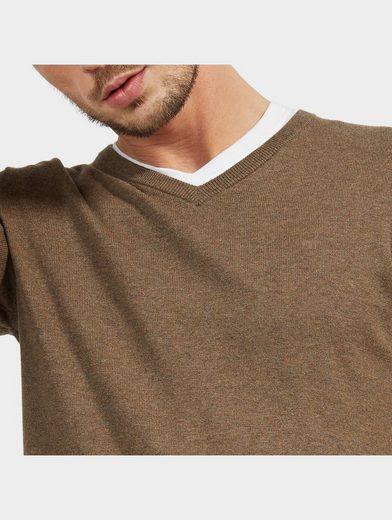 Tom Tailor Strickpullover Basic-Pullover mit V-Ausschnitt