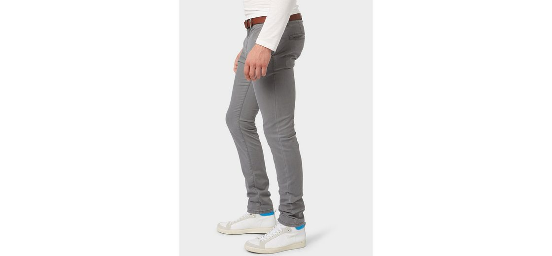 G眉rtel Tom mit Skinny Tom Tailor Chino Tailor Chinohose Denim rYrzw80q