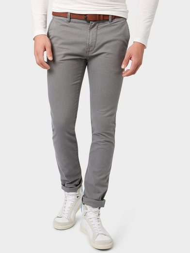 Tom Tailor Denim Chinohose Chino Skinny mit Gürtel