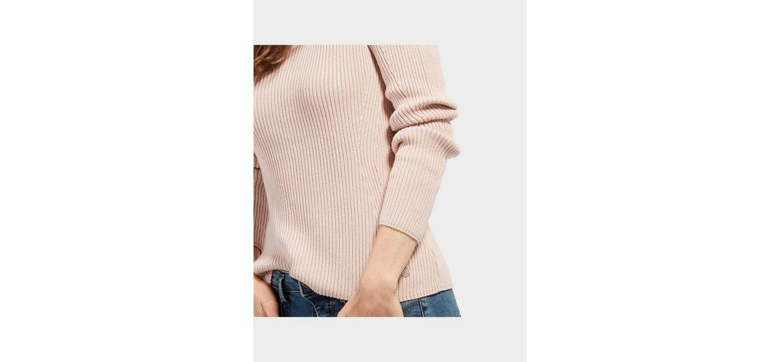 Wählen Sie Eine Beste Günstig Online Tom Tailor Strickpullover mit Ripp-Struktur Billig Verkauf 2018 Unisex Spielraum Top-Qualität 1EOAQX6Rf