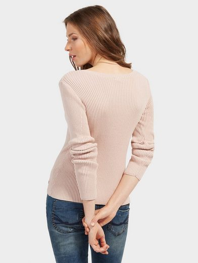 Tom Tailor Knitted Sweaters With Ripp Structure