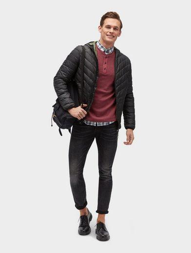 Tom Tailor Denim Langarmshirt Langarmshirt With Button Tape