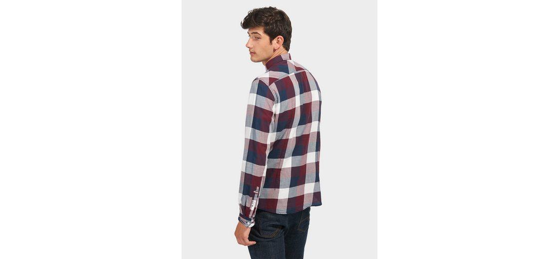 Wie Viel Bestellen Günstigen Preis Tom Tailor Denim Hemd mit Karo-Muster 4bfvC