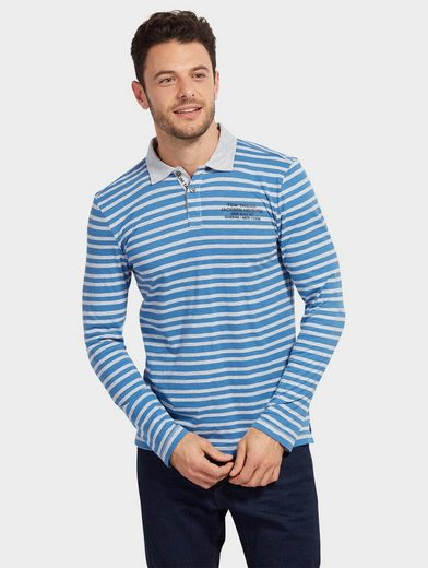 Tom Tailor Langarmshirt gestreiftes Polo