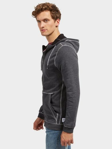 Tom Tailor Denim Sweatjacke in Melange-Optik