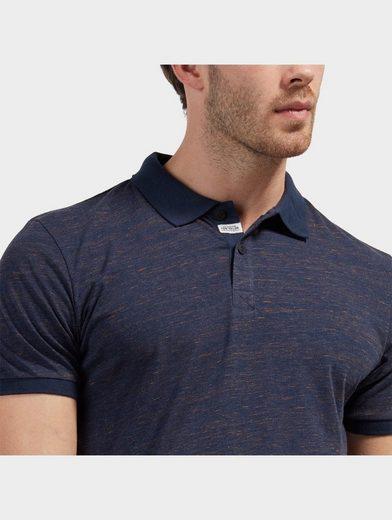 Tom Tailor T-Shirt Polo in Melange-Optik