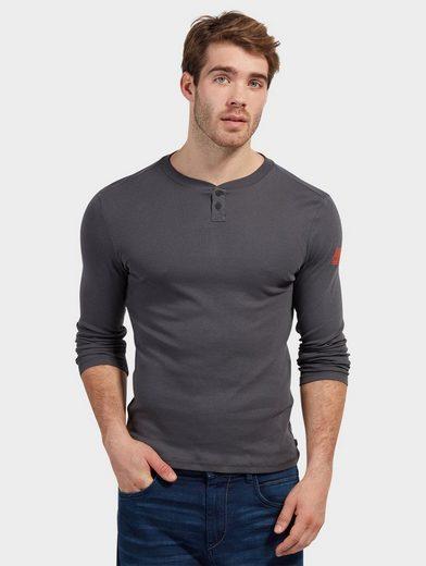 Tom Tailor Langarmshirt mit kurzer Knopfleiste
