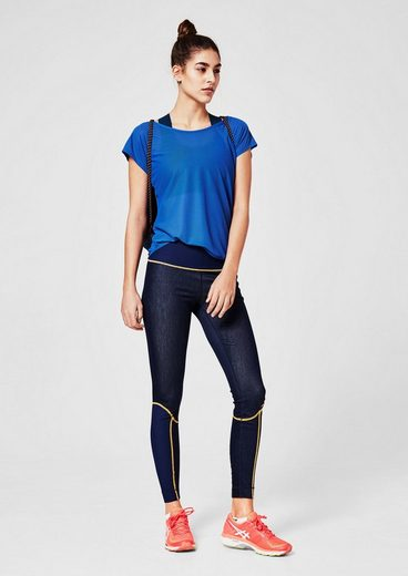 s.Oliver ACTIVE Lange Sport Tights Denim
