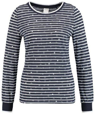 Taifun T-Shirt Langarm Rundhals Shirt mit Sternkette