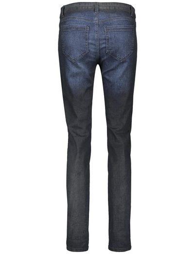 Taifun Hose Jeans lang Jeans mit Kontrastpaspel, Super Skinny TS