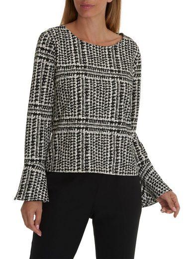 Betty&Co Sweatshirt mit weitem Saum