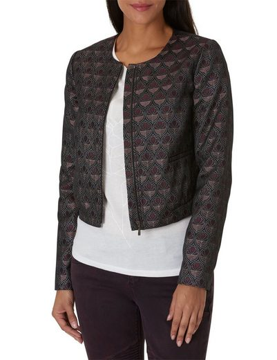 Betty&Co Kurze Jacke mit Allover Print