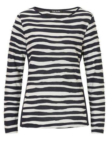 Betty Barclay Shirt mit Zebrastreifen und Rundhalsausschnitt