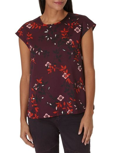 Betty&Co Leichte Bluse mit Allover Blumen Print