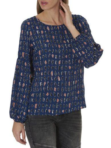 Betty&Co Bluse mit Tropfenausschnitt