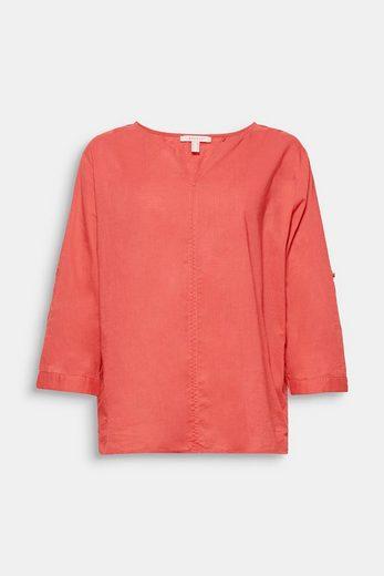 ESPRIT Zarte Struktur-Bluse, 100% Baumwolle