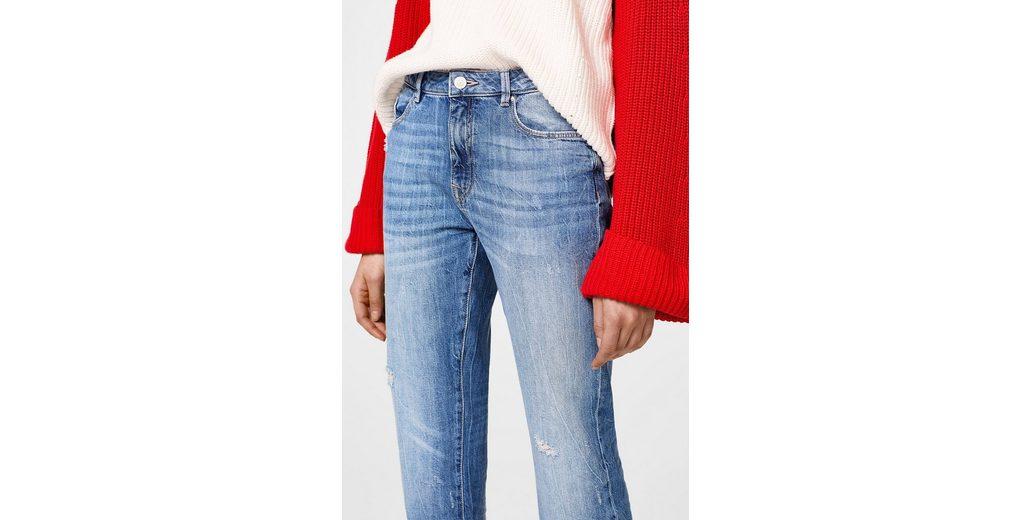 EDC BY ESPRIT Baumwoll-Jeans mit Fransensaum Günstig Kaufen Gut Verkaufen Freies Verschiffen Outlet-Store Freies Verschiffen Zuverlässig ypl6xvh