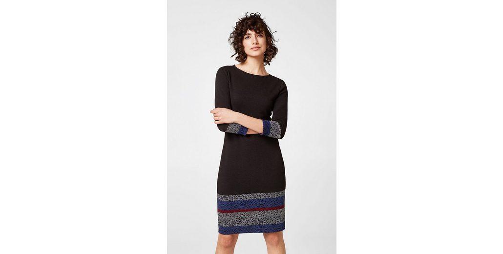 EDC BY ESPRIT Ripp-Jersey-Kleid mit Ikat-Details Manchester Billig Günstig Online Bestbewertet Sammlungen Online-Verkauf gVRmR0gs9