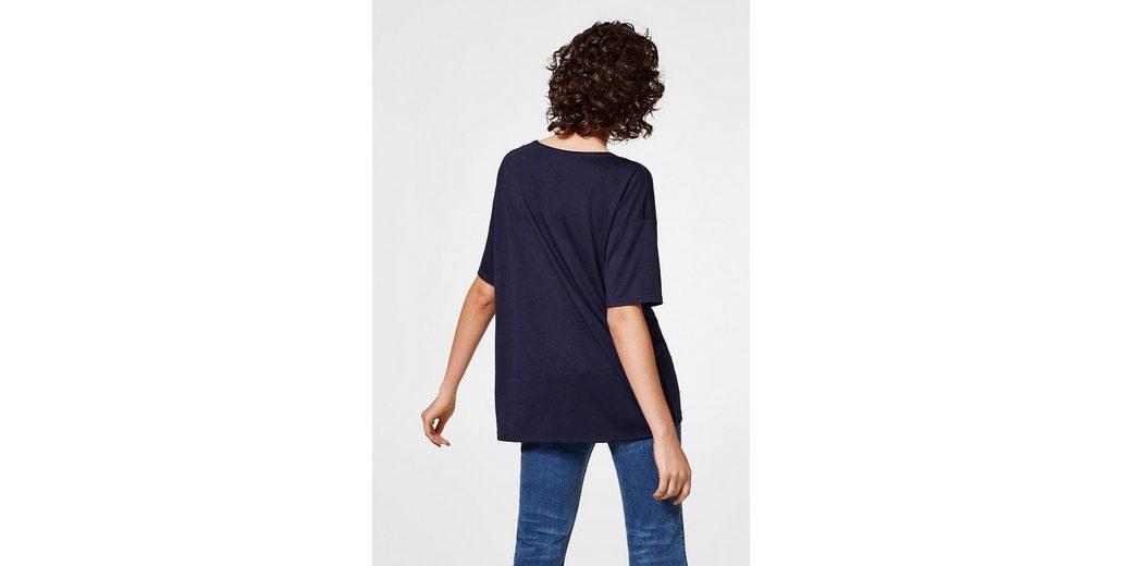 Billig Mit Paypal Freies Verschiffen Neue Ankunft EDC BY ESPRIT Oversized Shirt aus Jersey w7Tka8S
