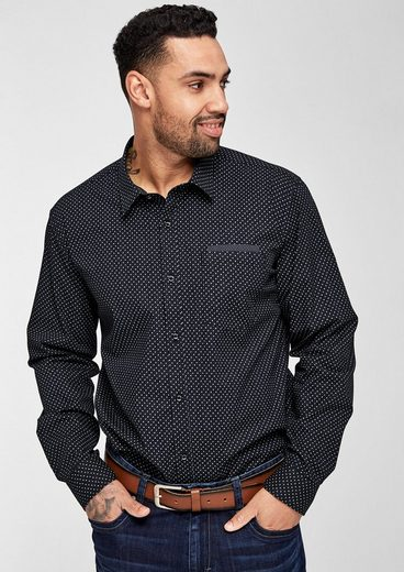 S.oliver Red Label Regular: Shirt With Allover Pattern