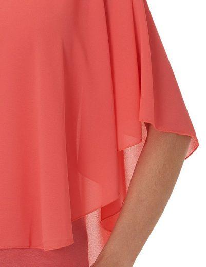 Betty Barclay Shirt With Chiffon Layer And Round Neck