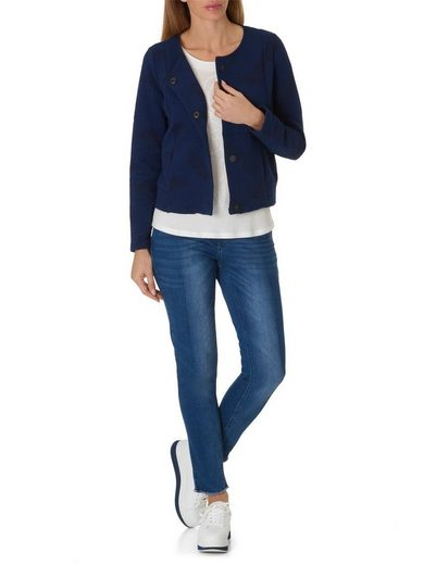 Betty&Co Kurzblazer mit Allover Muster