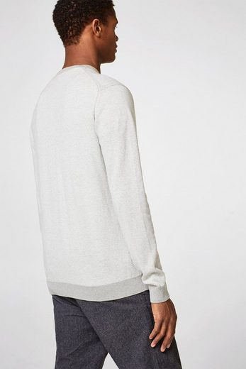 ESPRIT COLLECTION Feiner Pullover aus Baumwoll-Seide-Mix