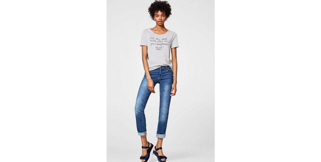 Preiswert ESPRIT Softes Shirt mit Statement-Stickerei Empfehlen Günstig Online Günstig Kaufen Sammlungen kWwAsvbA3O