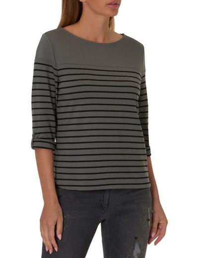Betty Barclay Shirt mit Streifen im Vokuhilaschnitt