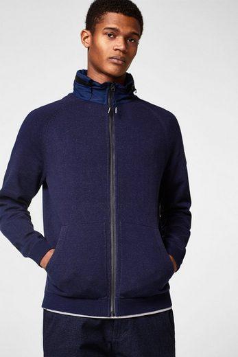 ESPRIT Zip-Cardigan mit variabler Nylon-Kapuze