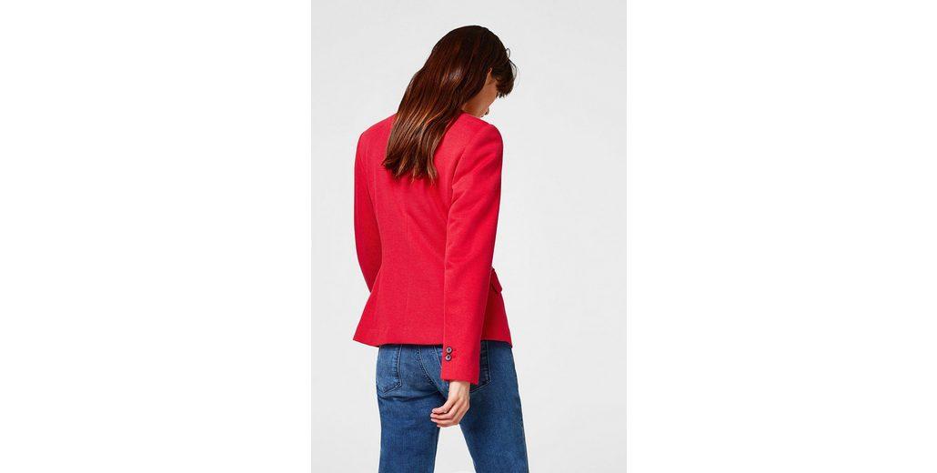 ESPRIT COLLECTION Taillierter 1-Knopf-Blazer aus Piqué Neueste Online-Verkauf nlyTnd6gW