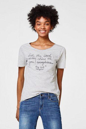 ESPRIT Softes Shirt mit Statement-Stickerei