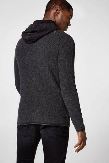 EDC BY ESPRIT Strukturierter Hoodie aus Baumwolle