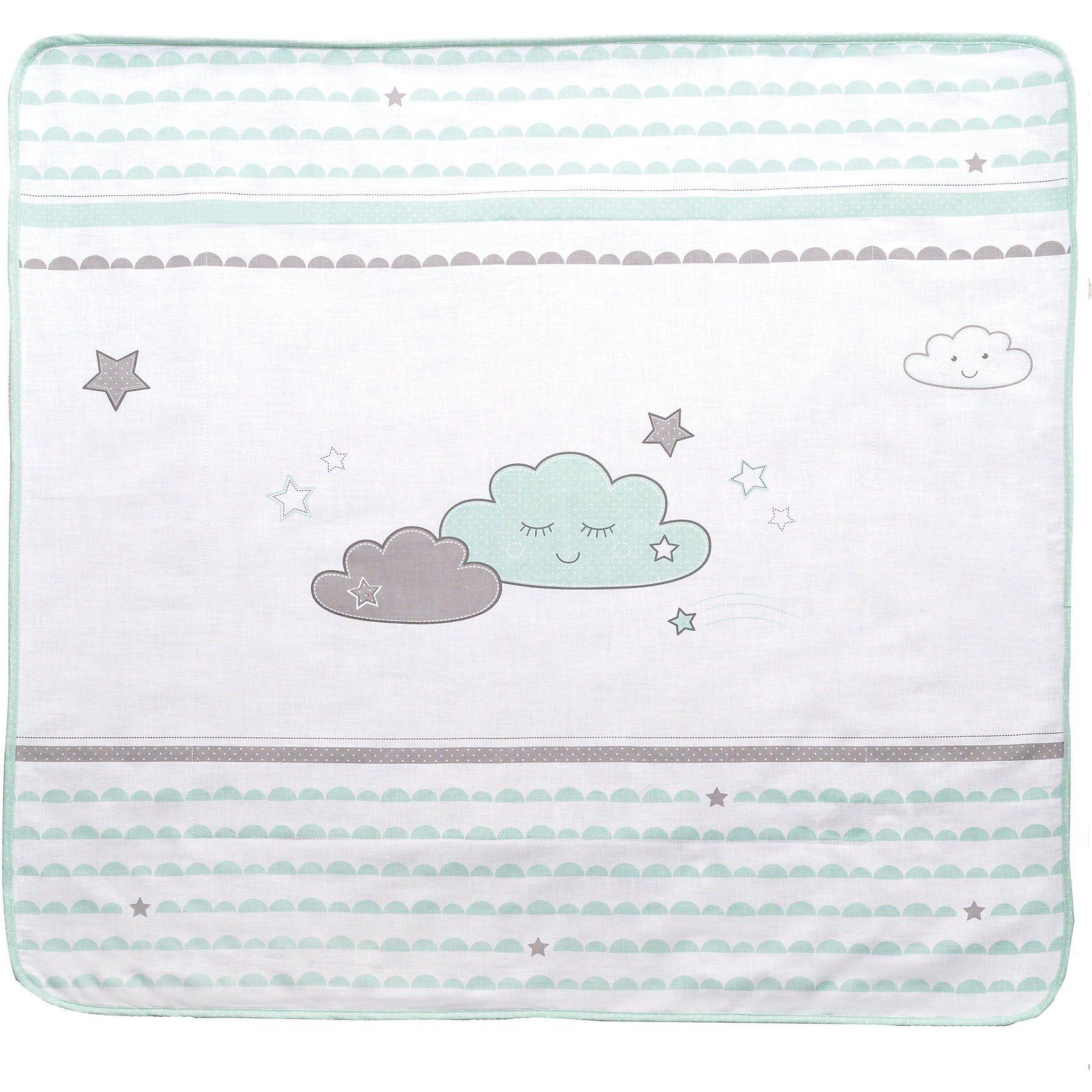 Roba® Babydecke Happy Cloud, mint/ taupe, 80 x 80 cm | Kinderzimmer > Textilien für Kinder > Babytextilien | Baumwolle - Polyester | Roba®
