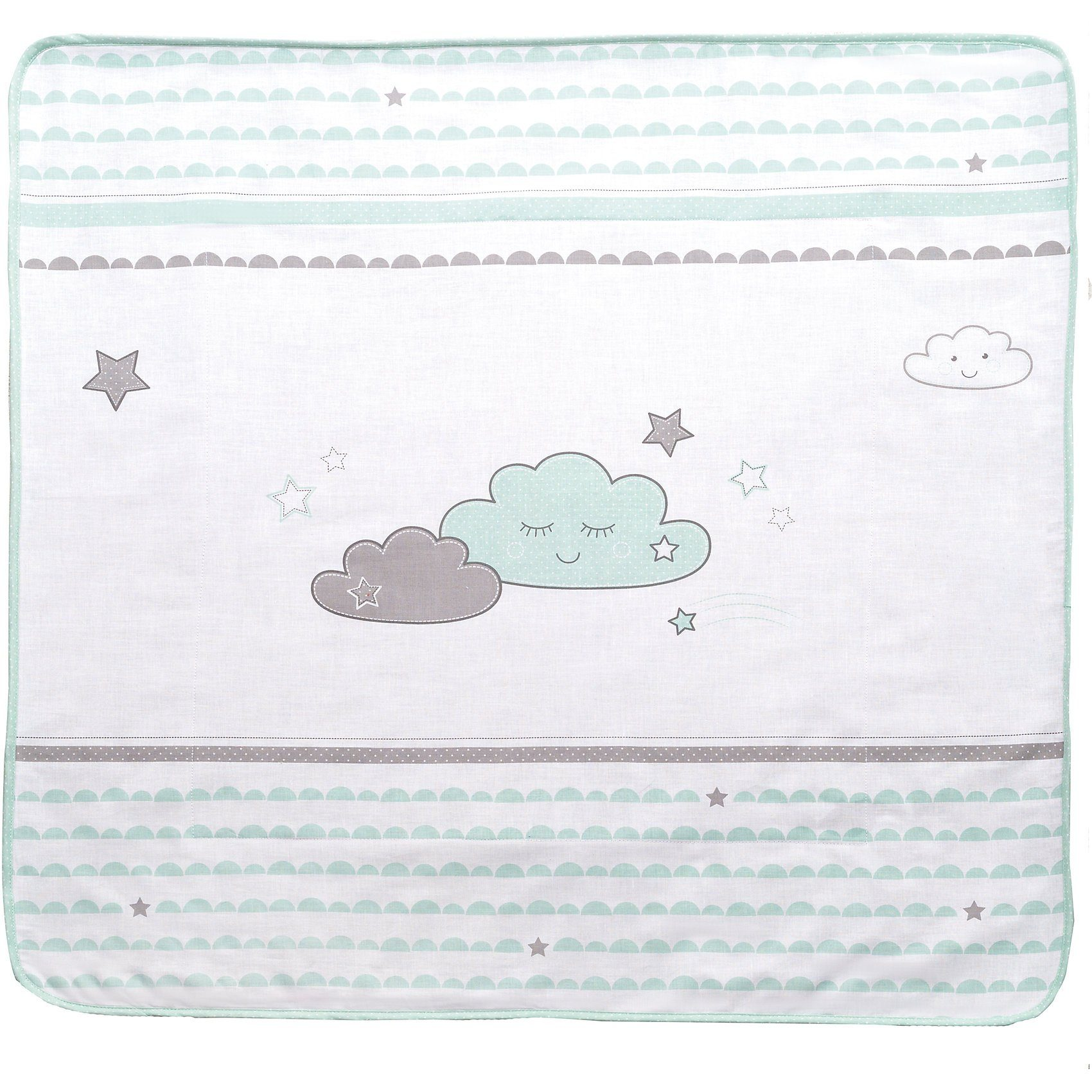 Roba® Babydecke Happy Cloud, mint/ taupe, 80 x 80 cm