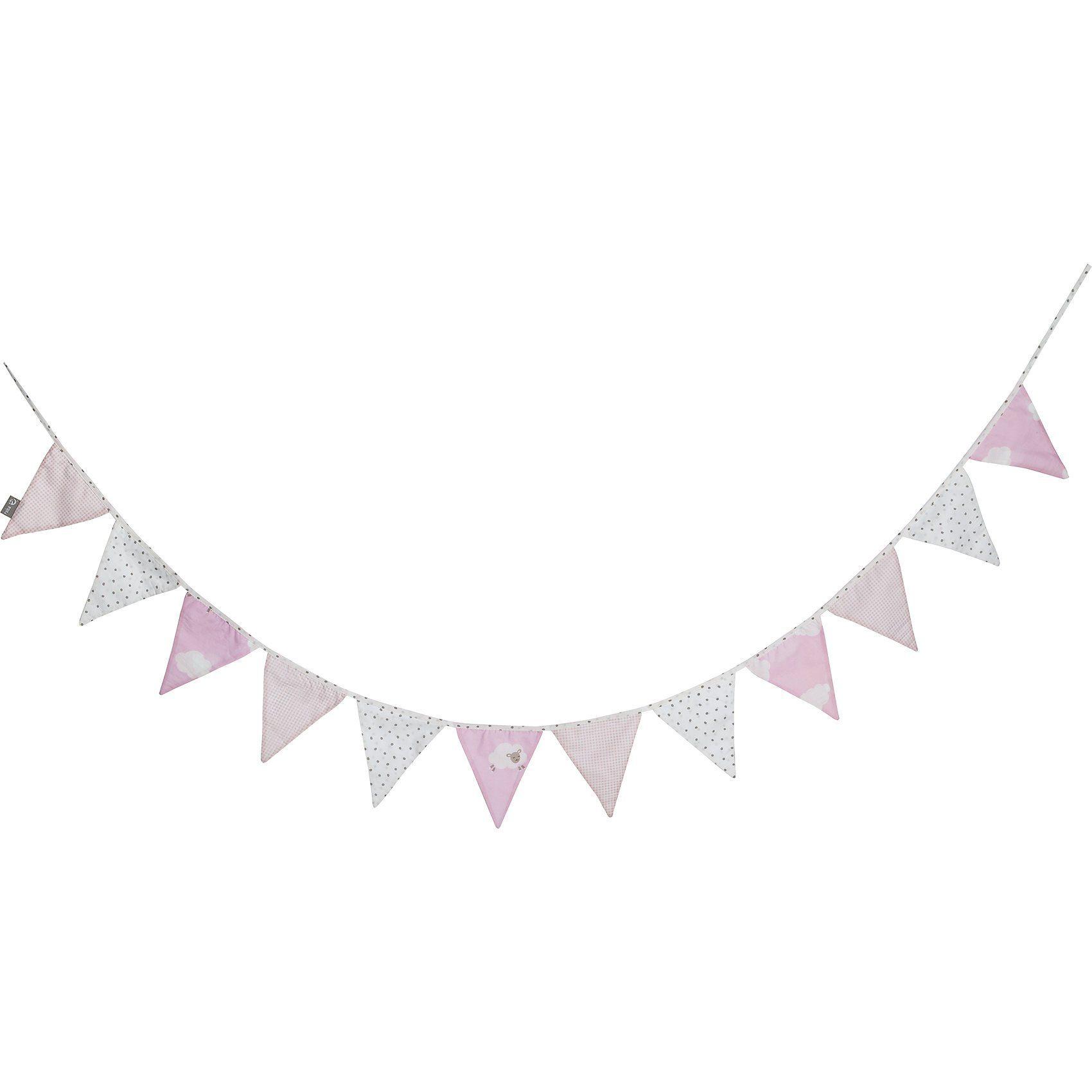 Roba® Wimpelkette Kleine Wolke, rosa, 300cm