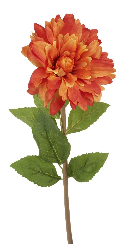 "VBS Kunstblume ""Chrysantheme Orange"" 70 cm lang"